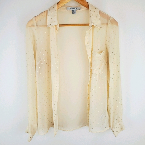 Forever 21 small see through blouse